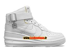 uk availability 5d760 ddcf1 Nike Wmns Lunar Force 1 Sky Hi PRM - Chaussures Nike Wedge Footwear Pour  Femme Fille Blanc Blanc Blanc 654850-010