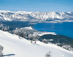 Heavenly Ski area, has some of the best views and skiing Lake Tahoe offers. #arcadebelts