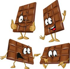 Funny cartoon chocolate vector material 04