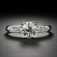1.33 ct. Diamond and Platinum Art Deco Engagement Ring