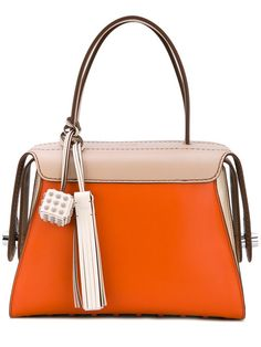 TOD'S contrast tote bag. #tods #bags #leather #hand bags #tote #