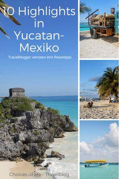Arriba Mexiko 🌴 😍 ➔ 10 bekannte Reiseblogger verraten euch Ihre Highlights der Yucatan Halbinsel in Mexiko 😎  ... Schwimmen in einer der Cenoten, einen Sonnaufgang am See der 7 Farben, die Maya Stätte Tulum, mit Meeresschildkröten auf Tuchfühlung und viele weitere Reisetipps für Yucatan erwarten euch... Mexico Vacation, Mexico Travel, Beautiful Places To Travel, Cool Places To Visit, Merida, Travel Tips, Travel Destinations, World Pictures, Road Trip Usa
