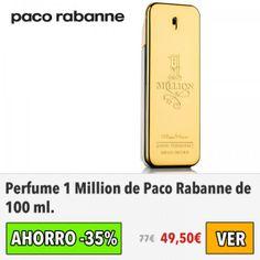 Perfume 1 Million de Paco Rabanne. #ofertas #descuentos