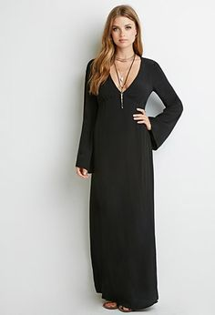 Crochet-Back Maxi Dress | Forever 21 - so easy, throw some fur around the shoulders and a leather belt on and done! ~$23!