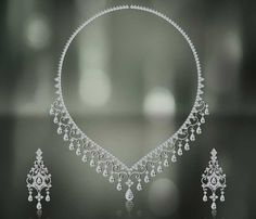 Diamond Jewellery Set | Diamond Heart Necklace, Diamond Necklace Sets, Jewelry Diamond ...