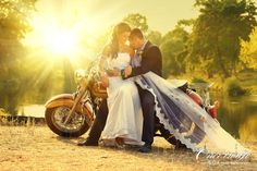 Motorcycles are a huge part of my life and clinton's! So, we will def take a pic like this but on my daddy's trike :)