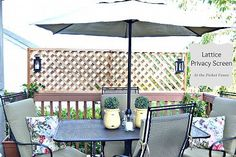 How to Add Privacy to a Deck~ Wood Lattice Screen! :: Hometalk