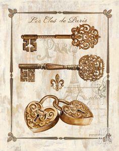 Keys to Paris I Print by Gregory Gorham at eu.art.com