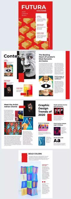 Adrian Ghenie, Magazine Maker, Online Graphic Design, Magazine Template, Meet The Artist, Magazine Design, Editorial Design, Bold Colors, Book Design