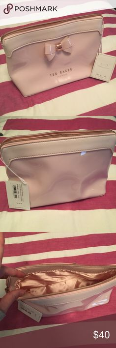 Ted Baker Makeup/travel bag, pink/blush This makeup bag is super cute and great for travel. It is brand new with tags on, never used. Great gift for an elegant woman in your life. Baker by Ted Baker Bags Cosmetic Bags & Cases