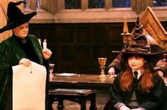 Professor McGonagall and Hanna Abbott