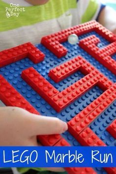 Construct a Lego marble run to test your guests' hand-eye coordination. - Construct a Lego marble run to test your guests' hand-eye coordination. Lego Projects, Projects For Kids, Brenda Torres, Kids Crafts, Marble Maze, Marble Runs, Step On A Lego, Lego Birthday Party, Birthday Parties