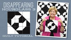 """Make a """"Disappearing Hourglass Quilt with Jenny Doan of Missouri Star. Jenny Doan Tutorials, Msqc Tutorials, Quilting Tutorials, Quilting Designs, Quilting Ideas, Quilting Fabric, Star Quilts, Easy Quilts, Quilt Block Patterns"""