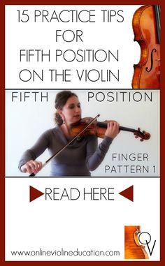 Master Fifth Position on the violin with Finger Patterns. Learn to read fluently and improve intonation with this fun and melodic 148 page Online Violin Education Exercise E-Book.