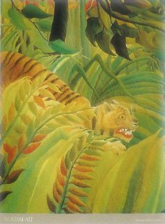 Detail from 'Tiger in a Tropical Storm (Surprised!)', 1891 by Henri Rousseau