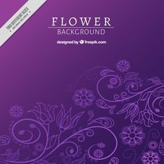 Purple floral background   Free Vector