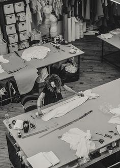 Fashion Design Studio - fashion designer's workspace; pattern cutting; fashion atelier // Laure de Sagazan