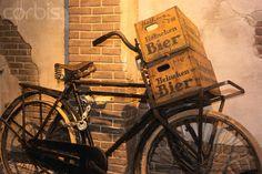 Vintage Bike & Beer Crate.
