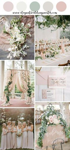 romantic blush and ivory garden wedding color palettes spring wedding - has . - romantic blush and ivory garden wedding color palettes spring wedding – hashtags} – # Spring we - Popular Wedding Colors, Pink Wedding Colors, Blush Pink Weddings, Wedding Color Schemes, Romantic Weddings, Blue Weddings, Winter Weddings, Fairytale Weddings, Rustic Weddings