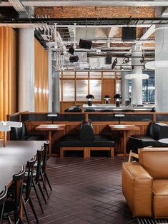Brooklyn studio LOVEISENOUGH has reignited the cultural heartbeat of a former warehouse in Manchester, turning it into cultural destination, CULTUREPLEX. Brick Arch, Timber Panelling, Banquette Seating, Creative Industries, Soft Furnishings, Restaurant Bar, Manchester, Interior Design, Hospitality