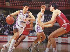 Real Madrid vs CB Zaragoza, 88(89. Drazen Petrovic, Quique Andreu.