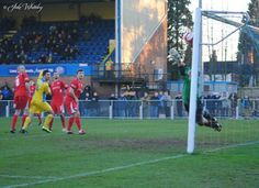 In it goes for Ewan Clarke for King's Lynn Town FC v Buxton FC 11/1/14