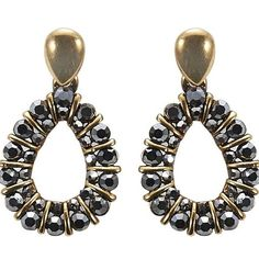 Gold and Black statement earrings