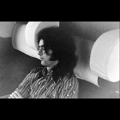 Jimmy Page getting some shut eye.