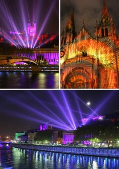 Enjoy the Fête des Lumières in Lyon every year, on the 8th of December!