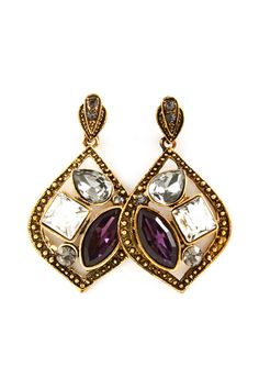 Josephine Earrings in Amethyst