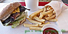 Burger and Fries at Village Drive In ...