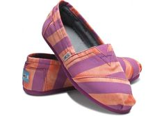 Um, orange and purple Toms? Clemson happiness....