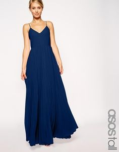 bridemaid dress in cobalt or peach ASOS+TALL+Pleat+Cami+Maxi+Dress