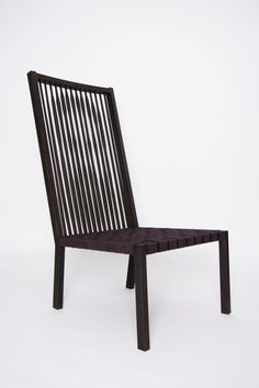 A simple slatted chair gets an artistic update of the designers portrait!