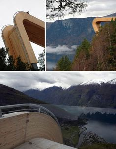 Aurland Lookout. Designed by Todd Saunders and Tommie Wilhelmsen.