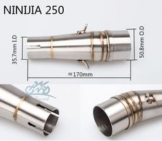 motorcycle link pipe NINJA250 middle pipe Modified Motorcycle Exhaust Stainless Steel Muffler Clamp for NINJIA250 Z250