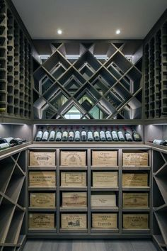 Luxury Modern Wine Cellar Ideas To Make Your Happy - Keller Wine Cellar Basement, Wine Cellar Racks, Deco Restaurant, Home Wine Cellars, Wine Cellar Design, Wine Cellar Modern, Wine Tasting Room, Wine House, Wine Display