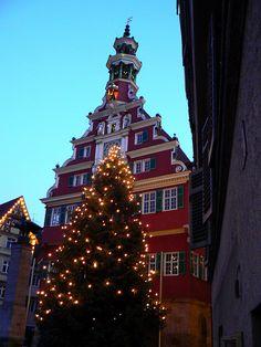 Christmas - Rathaus, Esslingen, Germany Pretty :)