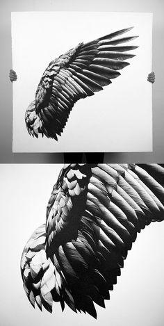 Wing Pen Drawings by Alessandro Paglia - Design Art Tattoo Sketches, Tattoo Drawings, Body Art Tattoos, Art Drawings, Wing Tattoo Men, Wing Tattoo Designs, Eagle Wing Tattoos, La Santa Muerte Tattoo, Angel Wings Drawing