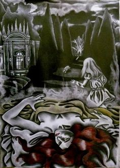 "Saatchi Art Artist Celeste Gómez; Drawing, ""RETURNING FROM THE NIGHTMARE"" #art"