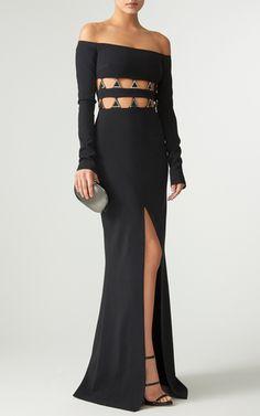 Off the Shoulder Cutout Evening Dress by David Koma | Moda Operandi