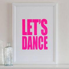 'Let's Dance' Screen Print