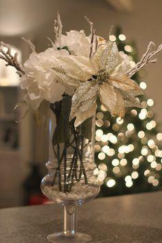 Sparkling Winter Centerpiece by Sweet on Style  http://sweetonstyleblog.blogspot.com/p/diy.html