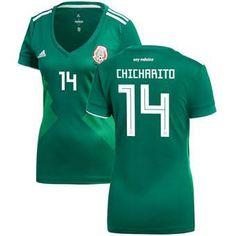 FAN SHIRT Mexico SOCCER 2017-2018 ChICHARITO  14 Home Jersey - Green Jersey  New. Fifa ... c67e43e98