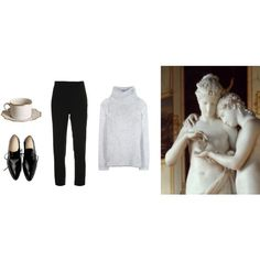 porcelain by mermaidism on Polyvore featuring Helmut Lang, Brandon Maxwell, Anna Weatherley, Winter, cozy, comfy, Elegant and coldweather