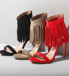 love these fringe sandals