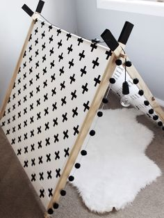 Peachy Baby — A-frame tent cross print