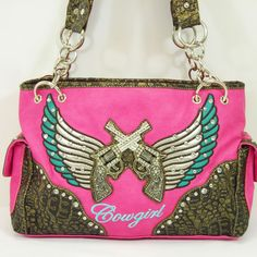 Pink Cowgirl Handbag for only $44. Find great handbags here andreasonlinestore.com