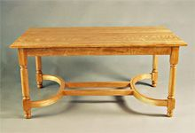 Handmade Birch Dining Table from Michael and Paul Wilson of Wilson Woodworking. Handcrafted in Windsor, Vermont. Made with birch wood.