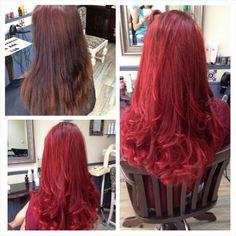 #Rood! #phair en #megix Coloured Hair, Long Hair Styles, Beauty, Beautiful, Color, Colorful Hair, Colored Hair, Long Hairstyle, Long Haircuts